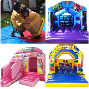 Bouncy castle and sumo suits