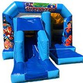 Super Hero Bouncy Castle Slide Combi