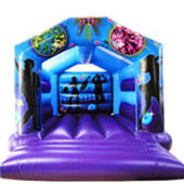 Adult bouncy castle with a people